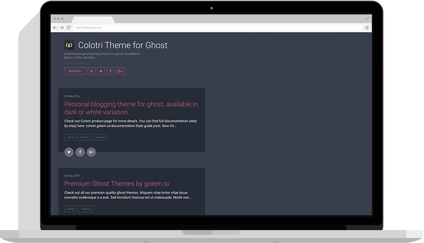 Colotri Theme for Ghost by golem io