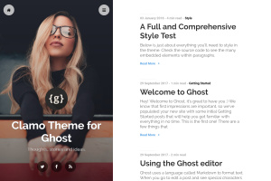 Clamo Theme for Ghost