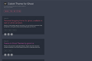 Colotri Theme for Ghost