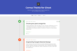 Corvus Theme for Ghost