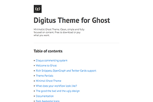 Digitus Theme for Ghost