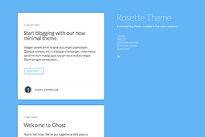 Rosette Theme for Ghost