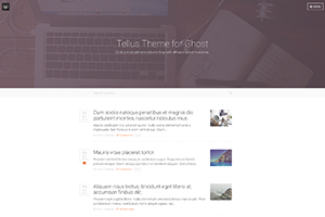 Tellus Theme for Ghost
