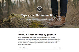 Typesome Theme for Ghost
